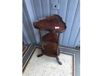 Wooden Display stand , in good condition D 31 cm W 29 in H 61 cm