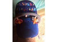 Fisher price bouncy vibrating chair. Playmat all good condition only occasional use at grandparents