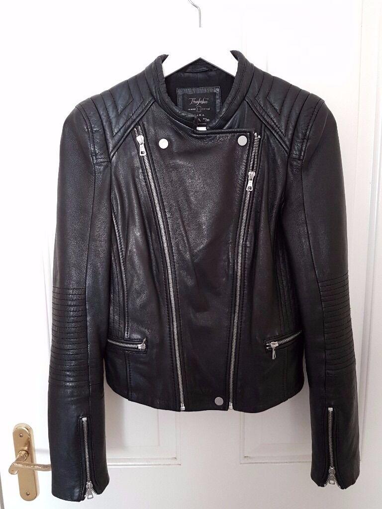 Zara Trafaluc authentic leather biker jacket u00a360 | in Nuneaton Warwickshire | Gumtree