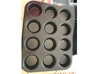 Cupcake baking tin and carry container
