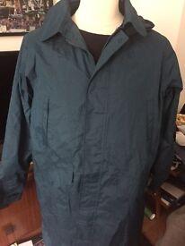 Teal Mac Raincoat Size L for Men