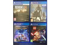 4x PS4 Games