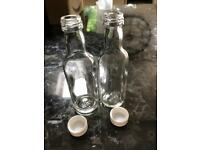 Glass bottles for wedding favours