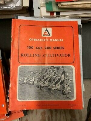 Allis-chalmers 100 And 200 Series Rolling Cultivator Owners Manual