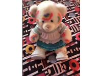 RAINBOW PATTERNED BUILD A BEAR WITH TWO FULL OUTFITS WITH SHOES