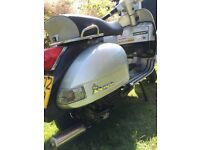 VESPA PX200E FOR SALE FITTED WITH A MALLOSI 210 KIT, FRONT DISC BRAKE AND SIPS