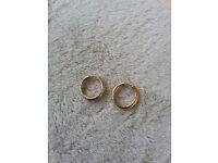 9ct gold hoop earings