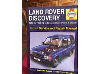 Land Rover Discovery Haynes Workshop Manualal