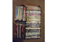100 used very good dvds mixed lot films childrens etc to many to list