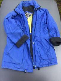Blue Sympatex Coat, size 14