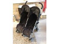 Double twin buggy push chair stroller , mammas and pappas