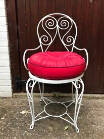 Occasional Chair with gorgeous red cushion