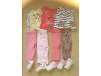 Large bundle (30+ items) girls baby clothes size 3-6 months