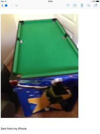 Child's Snooker And foitbal, Table