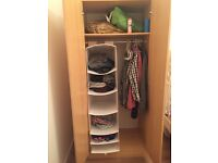 A very good condition wooden wardrobe and drawer set for sale
