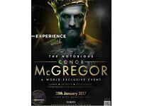 Experience with conor mcgregor