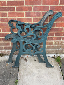 Very Heavy Cast Iron Garden Bench Ends