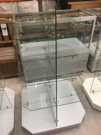 Small Glass Shelved 4 Tier Display Units