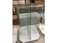 Small Glass Shelved 4 Tier Display Units