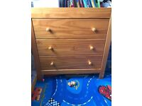 Mamas and papas wardrobe and chest of drawers set