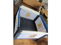 Larger travel cot/play pen for sale in very good condition