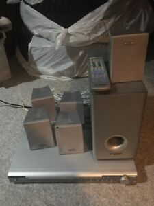 Curtis DVD player, sound system, and remote control