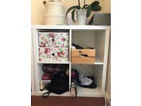 Ikea Shelf Unit (x 2), 77cm x 77cm - Style: Kallax - Color: White