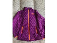 North Face Purple Quilted Jacket and T-Shirt