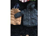 Boys winter jacket and body warmer