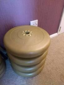 York 25lb (11.3 kg) barbells