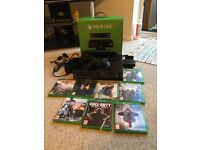 Xbox One with Kinect and 8 games