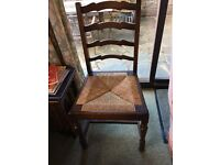 Oak dropleaf oval dining table and 4 oak chairs