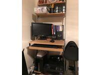 Computer Desk(Ladder wall mounted)