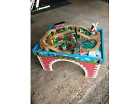 Thomas the tank engine play table and trains
