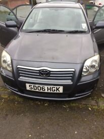 Toyota avensis disel with 1 year mot