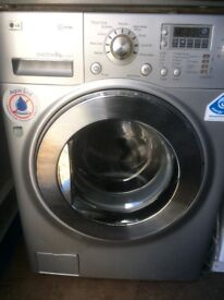 LG Direct Drive 8 kg silver gray washing machine(delivery available)