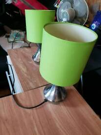 2x touch sensitive lamps