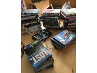 BOX OF DVDS/PS4 GAMES FOR COLLECTION £30