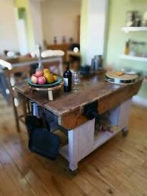Kitchens island ,vintage tables