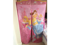 Disney Princess Fabric Wardrobe with 5 shelf hanging organiser-easy assembly & flat storage