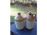 2 antique ginger beer flagons.