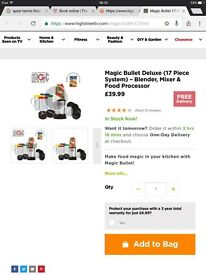 Magic Bullet Blender, Mixer, Food Processor. REDUCED PRICE