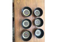 6 Denby Arabesque Bowls