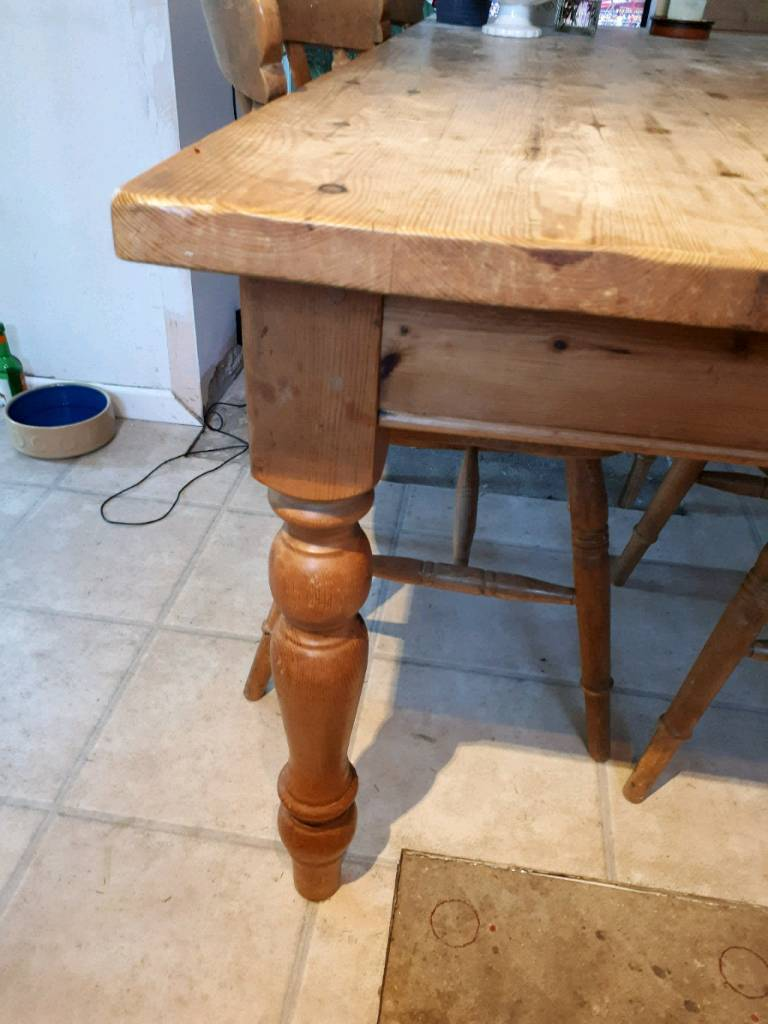 Old Pine Farmhouse Table In Ringwood Hampshire Gumtree