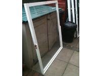 Large window insert (wood) with single glaze glass (no frame)