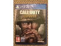 Brand New Call of Duty WWII PS4 game
