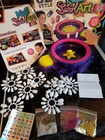 Nail art swirl craft kit