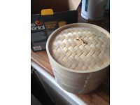 Brand new unused bamboo steamer