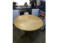 Solid wood table & suede covered chairs for sale