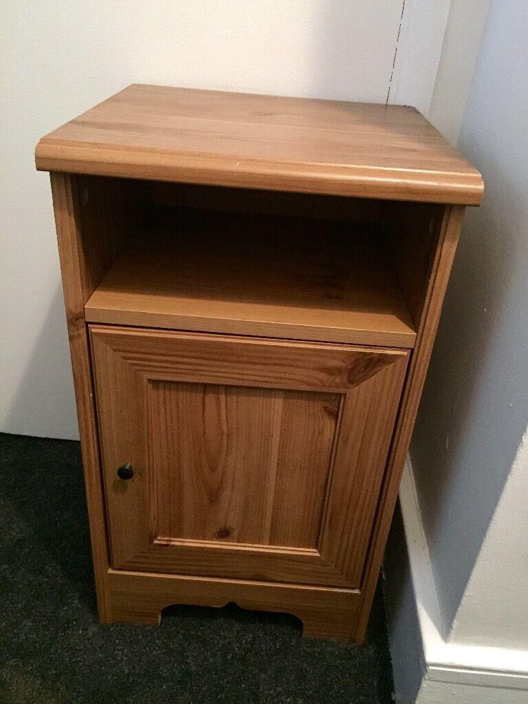 set of 2 x ikea aspelund bedside cabinets tables in enfield london gumtree